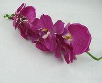 أنيقة الرقص phalaenopsis الحرير الاصطناعي الزهور عيد الميلاد المنزل زخرفة باقة الزفاف المركزية ديكورات اللوازم الديكور