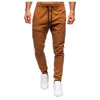 Men's Pants Autumn Jogger Casual Slim Fit Drawstring Solid Color Fashion Jogging Fitness Comfortable Sports Trousers Sweatpants