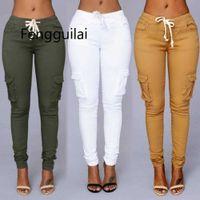 Fengguilai Elástico Elástico Sexy Papel Jeans Para Mujeres Leggings Jeans Mujer Alta Cintura Jeans Mujeres delgadas Pantalones de mezclilla X0708