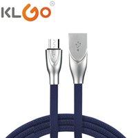 KLGO 아연 합금 마이크로 USB 충전 빠른 데이터 케이블 고속 지능형 마이크로 USB 데이터 케이블