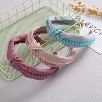 Children Cute Colors Cross Knot Hair Hoop Hairbands Girls Lovely Bow Pompom Headbands Kids Hair Accessories Hair Bands