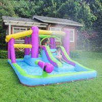 Water Park Garden Supplie Outdoor Kids Summer Funny Inflatable Castle Jumping Games Jump Castles with Slide Bouncy Jumper Wholesale Manufacturer