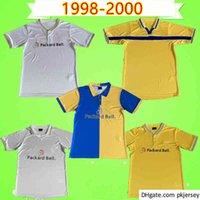 Leeds Retro Soccer Jersey UTD 1997 1998 1999 2000 خمر كلاسيكي 97 97 99 LEED لكرة القدم قميص موحدة الصفحة الرئيسية أبيض أصفر أزرق