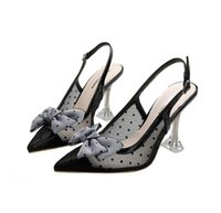 Woman Red Platform Peep-toes Sandals Designers Sexy Pointed Toe Reds Sole Pumps Luxurys Bow knot wave point Womens Wedding Dress Shoes