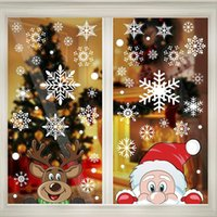 Abt 300 pieces 8 Sheet Christmas Snowflake Window Cling Stickers for Glass, Xmas Decals Decorations Holiday Snowflakes Santa Claus Reindeer for Party