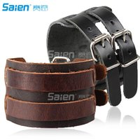 Elbow & Knee Pads Brown Wrap Bracelets For Men And Women, Multi-strand Wood Beads Leather Wristbands