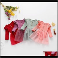 Jumpsuits&Rompers Baby, Kids & Maternityins Spring Autumn Rompers Dresses Front Buttons Ruffles Sleeve Born Knitted Cotton Baby Girls Clothi