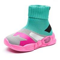 Petites Enfants Soupes Sneakers Baskers High Top Mesh Enfants School Slip-On Chaussures Chaussures Casual Chaussures Filles Fashion Formateurs Athletic Extérieur