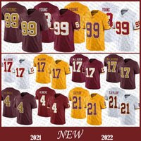 99 Chase Young foi Mens Football Jersey 17 Terry Mclaurin 21 Sean Taylor 4 Heinicke Stitched Jerseys Alta Qualidade Stock