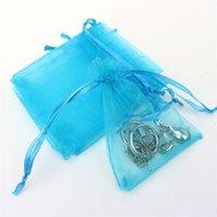 Toptan 7 * 9 cm Takı Çanta Karışık Organze Takı Düğün Parti Favor Noel Hediye Çanta Mor Mavi Pembe Sarı Siyah İpli 76 R2 ile