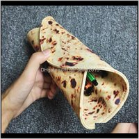 Cases Bags Supplies Office School Business & Industrial Drop Delivery 2021 Funny Creative Imitation Pancake Pizza Stationery Rolled Pencil Ca