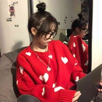 Nomikuma Autumn Winter Women Sweater Korean Love Heart Knitted Pullover Tops Causal Long Sleeve O-neck Pull Femme b037 210918