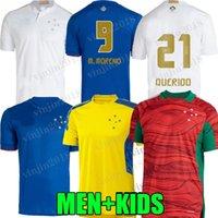Camisa Cruzeiro 2021 Centenary Futbol Formaları 100. Yıldönümü 2022 Dede Léo M. Moreno Pottker Manoel 100 Anos Eğitim Takım Elbise Erkekler Kids Kit Futbol Gömlek 21 22