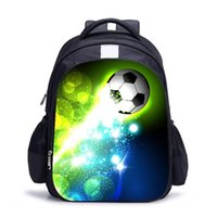 Mochila suave oxford tejido ergonómico múltiples bolsillos escolar bolsa de cremallera deporte unisex unisex diario fútbol impreso estudiante casual