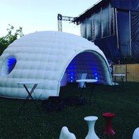 تجاري أبيض أو أسود نفخ الزفاف ديسكو خيمة الحديقة قبة سرادق الهواء Igloo بار لونا بناء مع منفاخ تضخيم في كل وقت