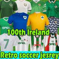 100th Inniversary Ireland Soccer Jersey 2021 Centning Centerment Football Jerseys 1988 1990 1992 1992 1994 1997 1998 90 93 92 94 96 Northern Retro الكلاسيكية خمر الأيرلندية الرجال الاطفال