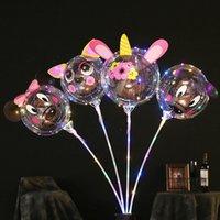 Balão levou balões de luz com rosa bobo bola buquê novidade iluminação bolha balão string luzes para o dia dos namorados casamento casamento diy presentes meninas mulheres