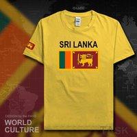 스리랑카 리칸 남성 T 셔츠 유니폼 국가 팀 티셔츠 100 % 코튼 티셔츠 스포츠 의류 티즈 국가 플래그 LKA CEYLON X0621