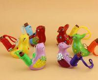 Cerâmico Água Pássaro Whistle Manchado Toutinegra Canção Chirps Home Decoração Para Crianças Crianças Presentes Festa Favor