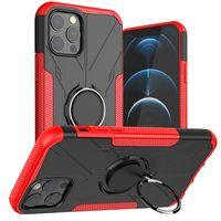 Bague magnétique hybride Stand Heavy Duty Coques Couverture antichoc pour iPhone 12 Mini Pro Max Samsung S21 Fe A12 A52 A72 A82 A02S F62 MOTO G STYLUS 2021 G30 REDMI NOTE 9 10