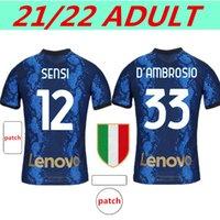 Inter Fussball Jersey 2021 2022 Lukaku Laustaro Eriksen Barella Ibrahimovic Theo Version Football Hemd Tonali Brahim Erwachsener