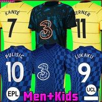 Chelsea CFC PULISIC ZIYECH HAVERTZ KANTE WERNER ABRAHAM CHILWELL MOUNT JORGINHO camisa de futebol 2022 2021 Camisa de futebol GIROUD 22 21 masculino + kit infantil