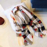 Sciarpa da donna estate Sciarpa di seta Classic Tartan Warhorse Stampa Sciarpa Sciarpa Scialle Sciarpe morbide 190 * 80 cm