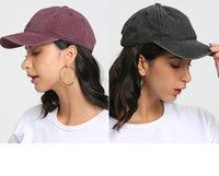 13 Stili Cappelli Ponytai Lavato maglia posteriore Leopardo Sunflower Plaid Camo Hollow Cappello di Baseball Cappello da baseball Cappello da baseball