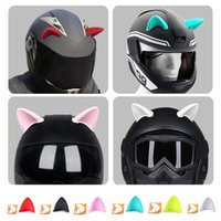 Motorcycle Helmets 1 Pcs Car Bike Helmet Cat Beautiful Ear Decoration Off-road Face Full Devil Horns Moto