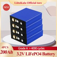 LiitoKala 4pcs 3.2v 200ah lifepo4 battery 12v200ah lithium cell phosphate solar iron eu usa russia fast delivery tax free