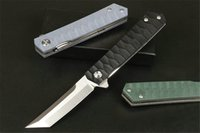 Russia D2 Finka NKVD KGB Smart folding knife G10 handle survival camping military multi-hunting tactical Pocket Knifes Rescue Utility EDC Tools 9 11 INCH
