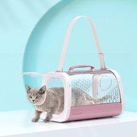 Backpack Pet Carrier Cat Back Aughing Дышащий космический окрестностях плеча портативные носители, ящики Дома