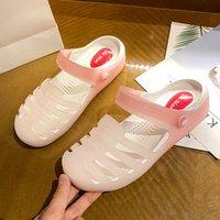 Лето 2021 Мужская Женская Размер Трансграничные Сандалии Дамы Корейский Повседневная Симпатичные Обувь Симпатичные Модные Пляжные Тапочки Код: 30nk-2120