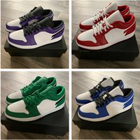 High Quality 1 1S Low Running Shoes Game Royal Gym Red Court Purple Celts Green Sports Sneakers