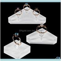 Bolsas, sacos Embalagem JewelryCrylic Holder Jewelry Stand para anéis Jewellery Expositor Caso Casal Anel Exposição Juwellery Organizer Traga