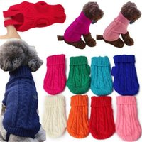 Dog Apparel 1Pcs Knitted Sweater Pet High Neck Vest Clothes Cat Puppy Coat Small Winter Warm Soft Knitwear Pets Costume Sweaters
