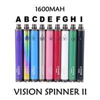 Vizyon Spinner II Değişken Gerilim Pil 3.3 V-4.8 V Ego Batarya Kitleri Görüş Spinner 2 1600mAh EGO Atomizer için
