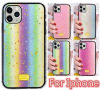 Cajas de brillo de lujo luminoso cubren Diamond Back para iPhone 11 12 Pro 6 7 8 Plus x xr xs max