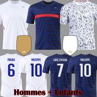 2021 MBAPPE Pogba Soccer Jersey Grezmann Varane Hernandez Футбол футболка Pavard Kids Kit Kante Kimpembe Maillot de Foot Camavinga Rabiot Hommes Enfants