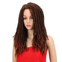 22 Zoll Synthetische Perücken für schwarze Frauen Häkeln Zöpfe Twist Jumbo Dread Faux Locs Frisur langes Afro-braunes Haar