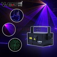 V-Show Australia Warehouse 1W Neues Design RGB-Animation Laser-Licht DMX-Steuerungsstufe Programmierbarer Projektor für DJ Bar Disco