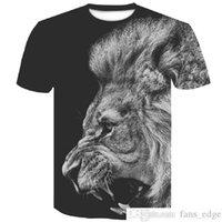 2019 New Lion Mens Man T-shirt T-shirt 3D Maniche corte T-shirt Black T Shirt HARAJUKU Summer Hip Hop Hop Tshirt Tops Plus Size Shirt XXXXLSoccer Jersey