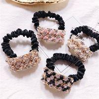 Леди мода эластичное кольцо роскоши горный хрусталь резиновые полосы веревочки повязки волос аксессуары для женщин девушек
