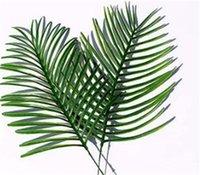 Künstliche tropische Palmblätter Gefälschte Pflanzen Faux Große Palme Blatt Grün Grün Für Blumen Anordnung Wedd Home Party Decor 232 v2