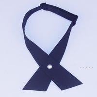 Yüksek kaliteli moda bağları Unisex çapraz kravat ilmek kişilik okul papyon çapraz toka kravat 10 renk wy1135 199 k2