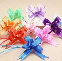 Dostawy imprezowe 1.8 * 35 cm Pull Bows Wstążki Kwiat Prezent Pakowanie Motyl Projekt Dekoracji Ślubnej Pullbows Multi Color Option Christmas Decor SN2825