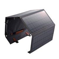 Chotech 36W Portable Pannello solare Pieghevole Caricabatterie da sole pieghevole con 2 porte di uscita USB - Nero
