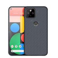 Funda de fibra de carbono real pura para Google Pixel 5 pixel5 pixel 4a 5g Case Aramid Fibra Ultra Thin Threap Three Thone Thone