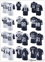 "Männer Frauen Jugend Dallas ""Cowboys"" Jersey 4 Dak Prescott 11 Micah Parsons 21 Ezekiel Elliott 88 CEEDEE LAMB Football Jerseys Navy"