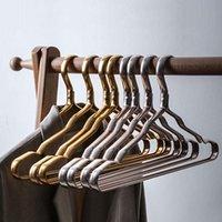 Вешалки стойки 10 шт. Вешалка Прочный противоскользящий антидоформационный алюминиевый сплав шкаф платье одежда полотенце многофункциональная стойка для хранения Dag-SH